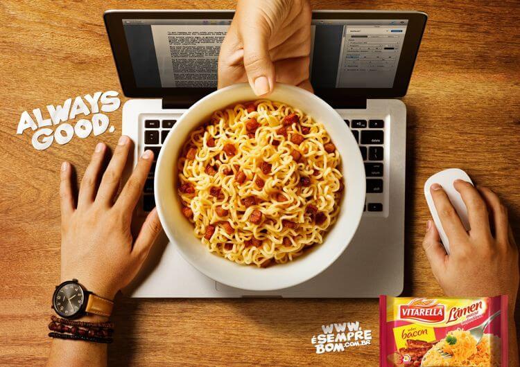iklan makanan bahasa inggris