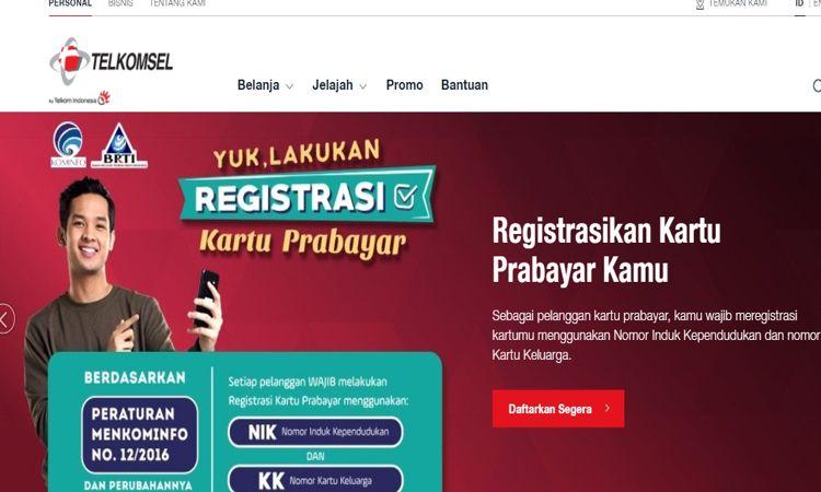 Melalui Website Resmi Telkomsel