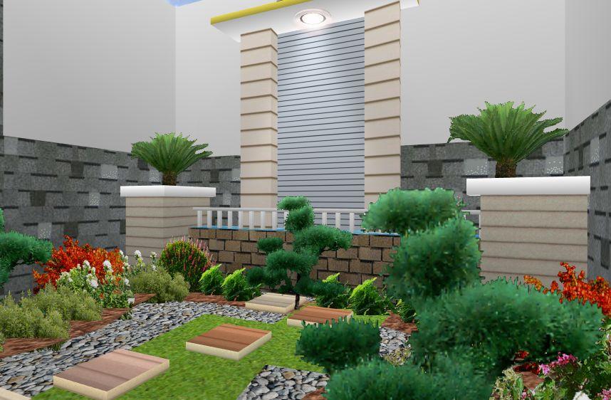 Desain Taman Minimalis Di Lahan Sempit Depan Rumah Bagi In Com
