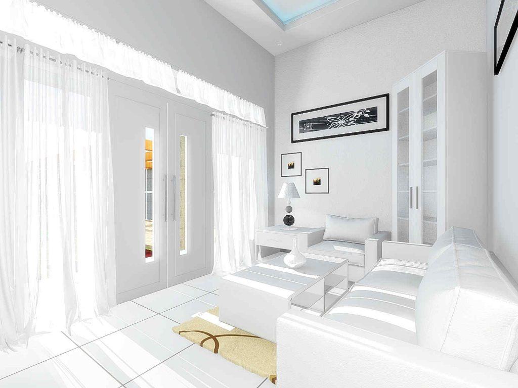 ruang tamu minimalis sederhana