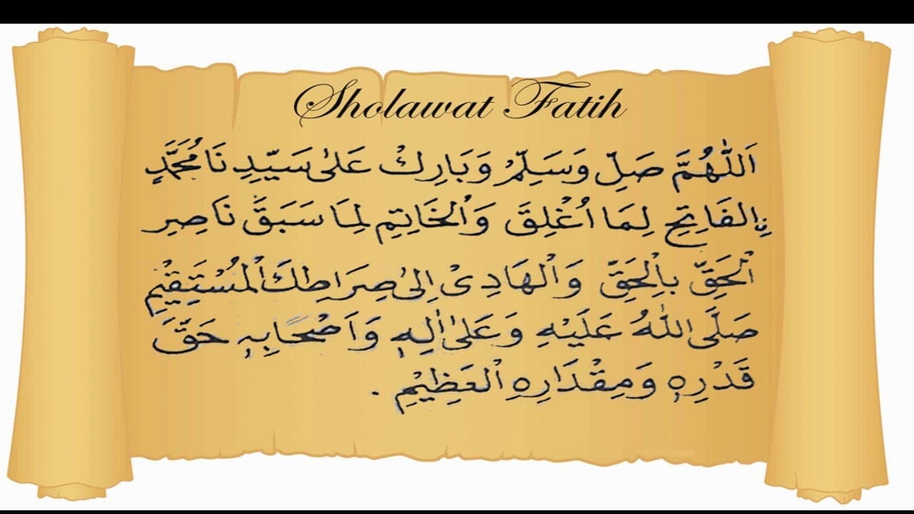 fadhilah Shalawat Fatih