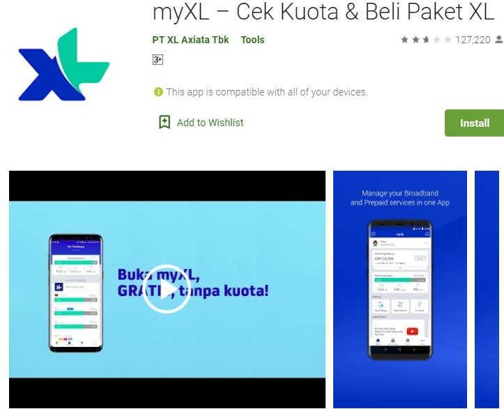 Cek Pulsa XL via aplikasi my XL
